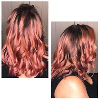 Rose Gold on a Balayage, Root Shadow