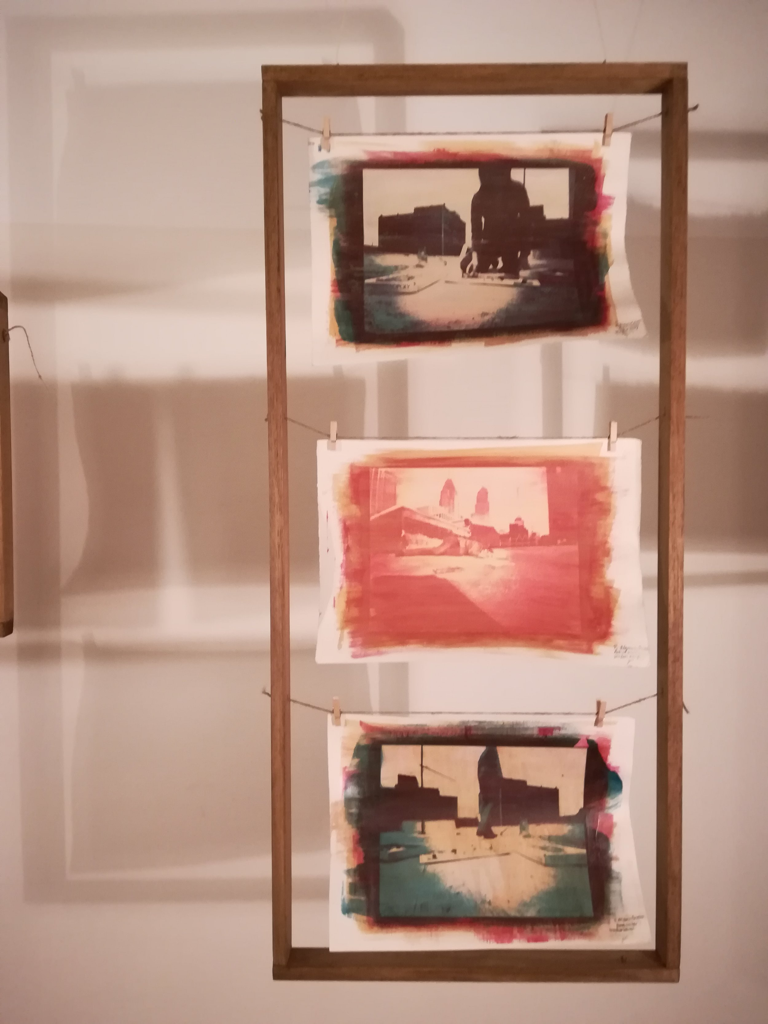 Untitled Process 01 , 2004 gum bichromate on paper 108 x 49 cm