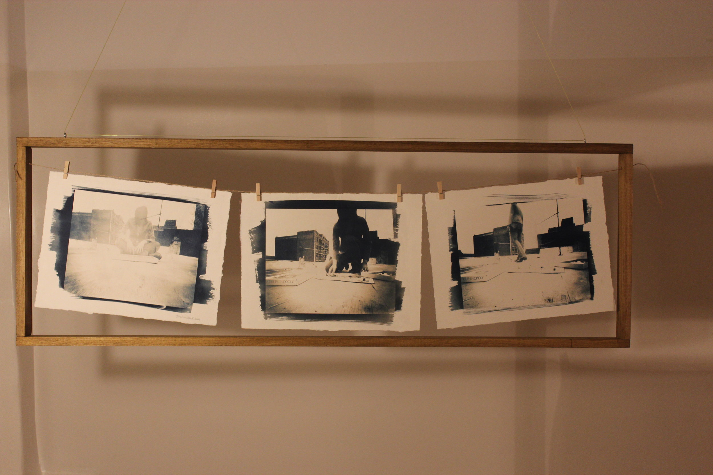 Untitled Process 02 , 2004 cyanotype on paper 118 x 40 cm