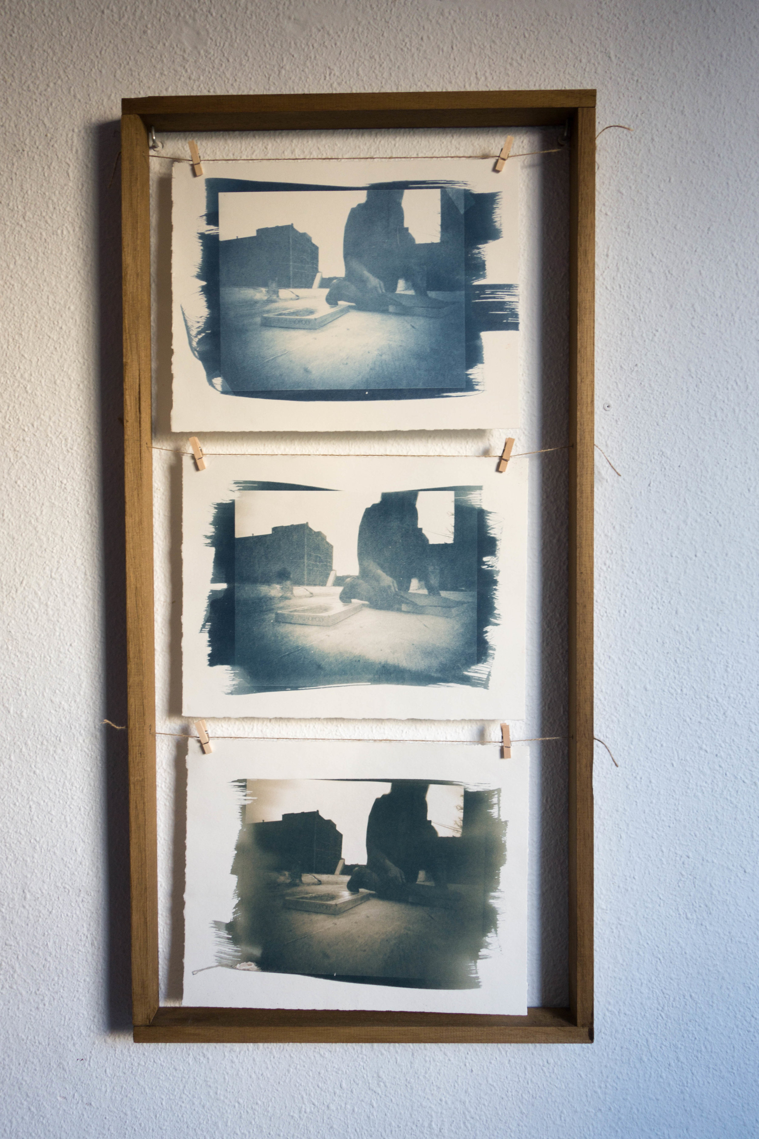 Untitled Process 06 , 2004 cyanotype on paper 97 x 48 cm