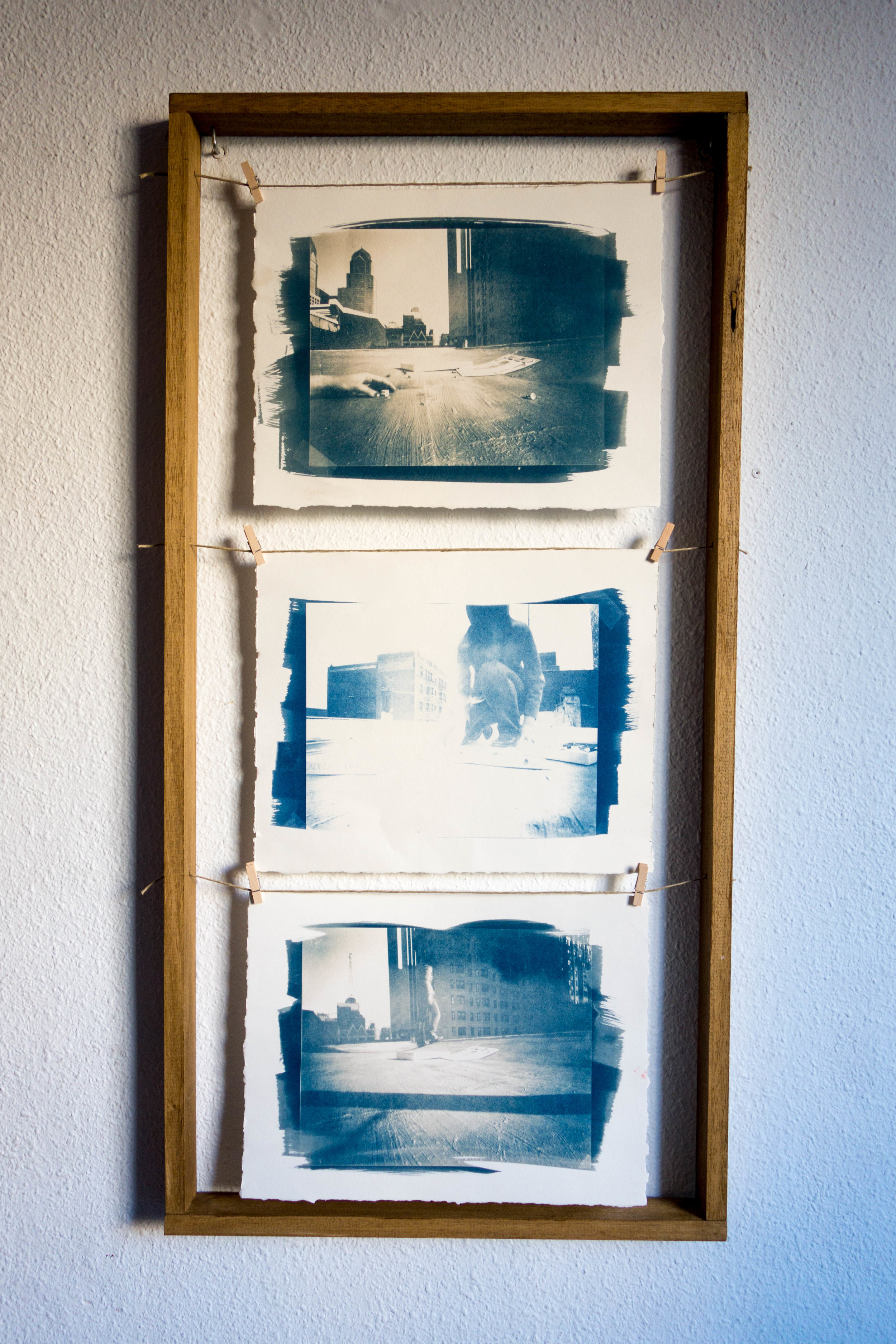 Untitled Process 04 , 2004 cyanotype on paper 97 x 48 cm