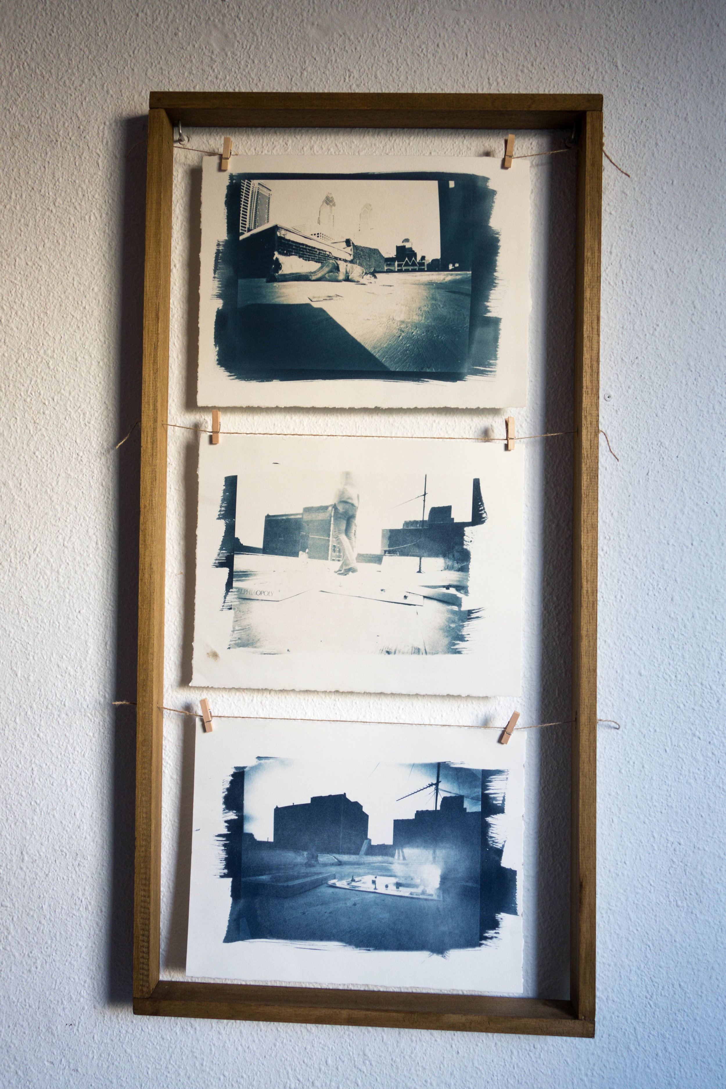 Untitled Process 05 , 2004 cyanotype on paper 97 x 48 cm