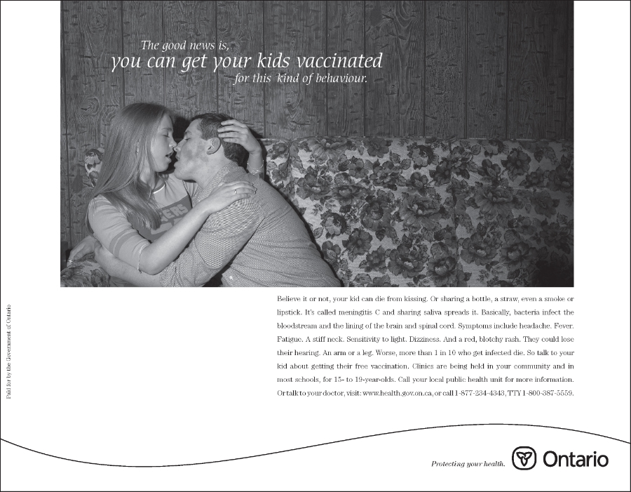 Meningitis is the kissing disease!  A.D.:  Clive Matthews   C.D.:  David Rosenberg
