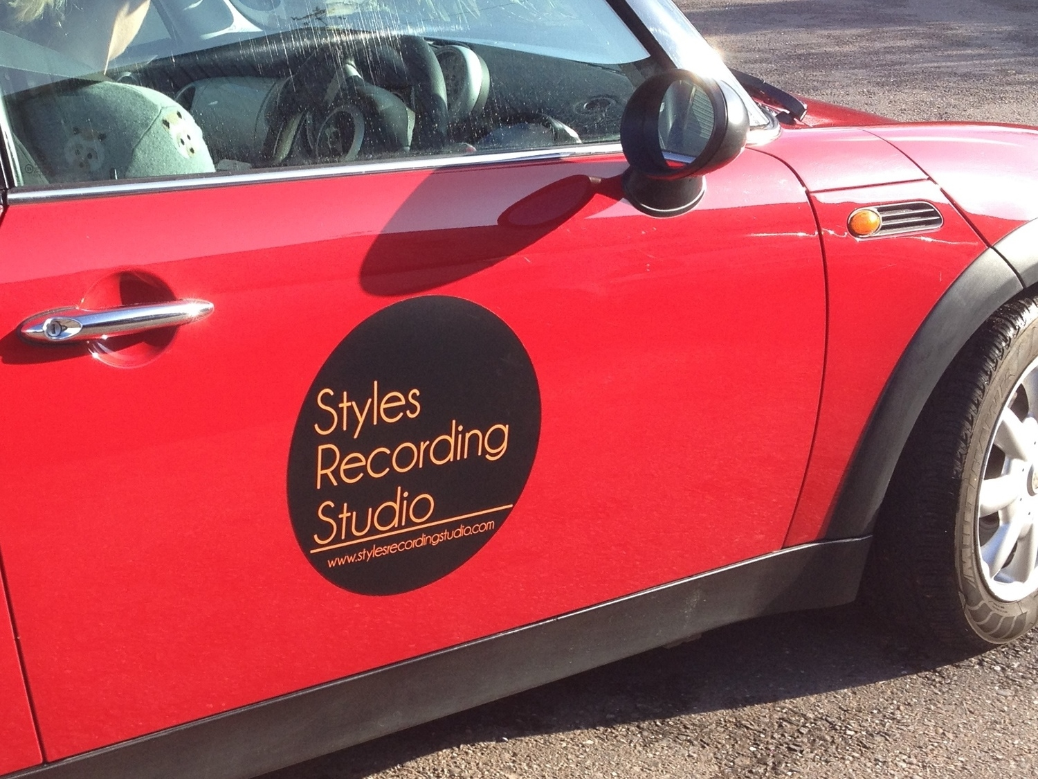 The new promo car is out and about in the south west