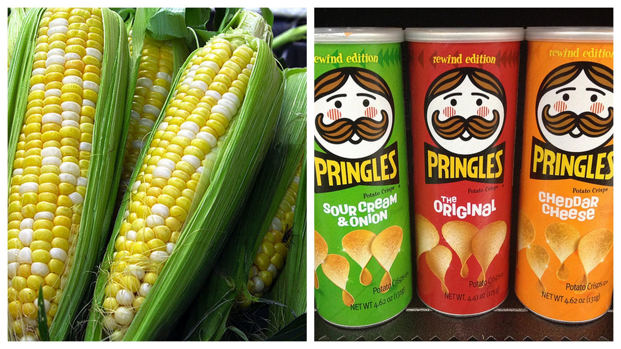 Corn    and    Pringles   .
