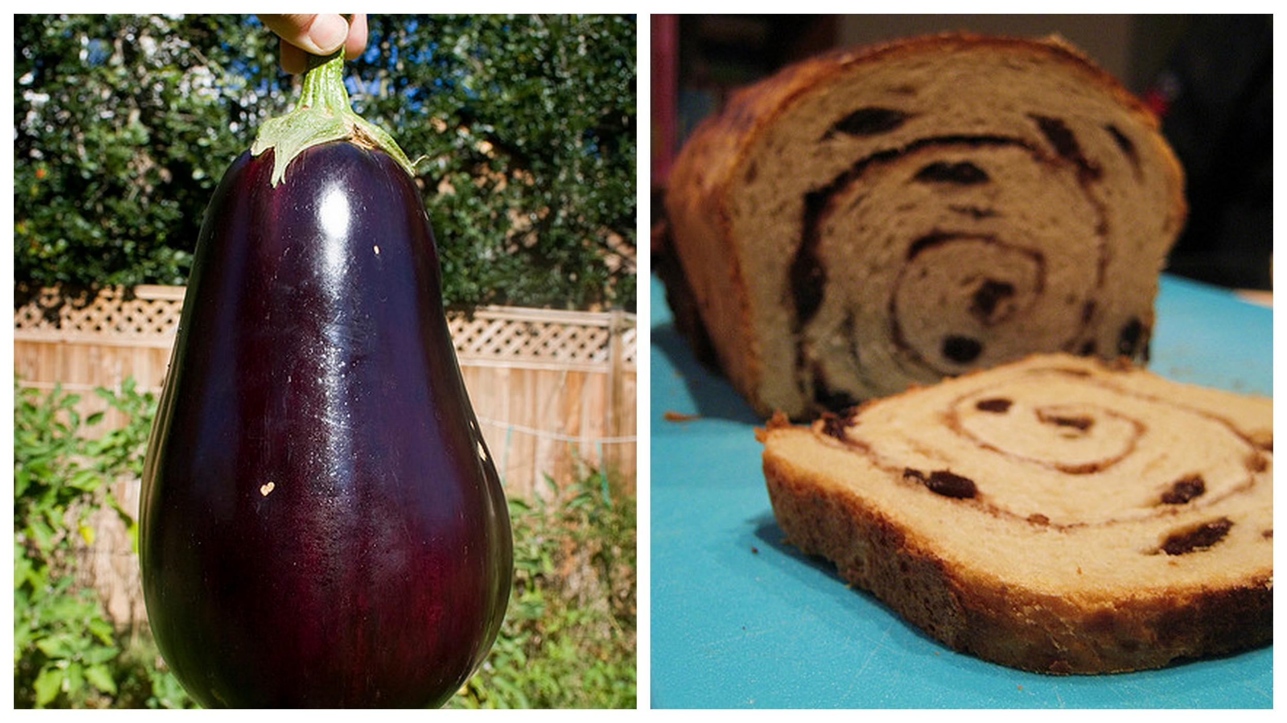 Eggplant    and    Cinnamon bread   .