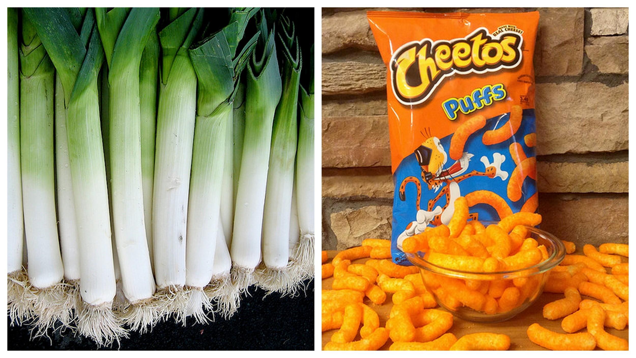 Leeks    and    Cheetos   .