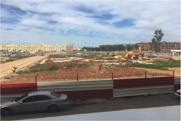 Park under construction in Khouribga, Morocco. Photo by the author, March 2017.