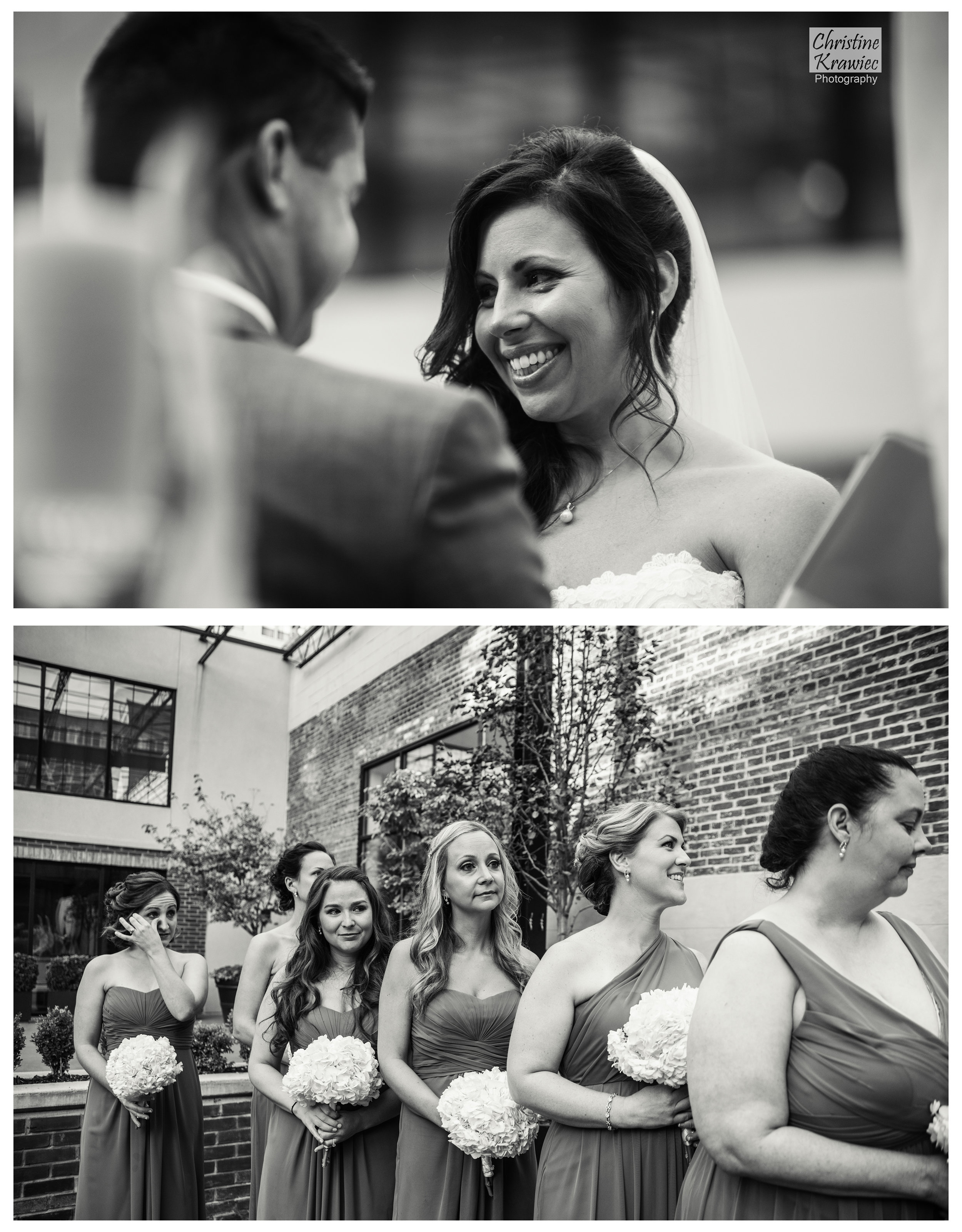A bridesmaid's tear gets me every time