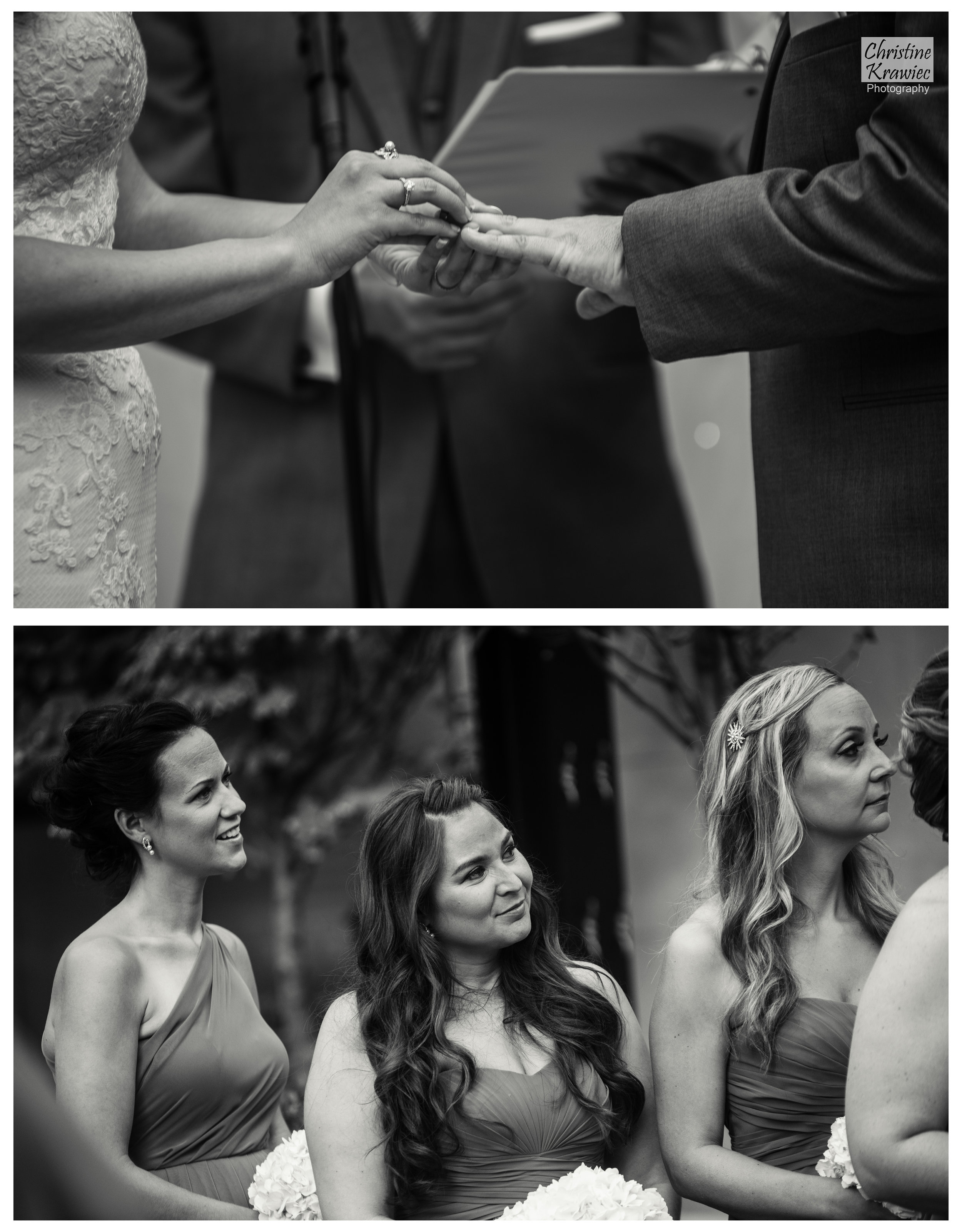 Lauren placing her husband's wedding ring on his finger :)