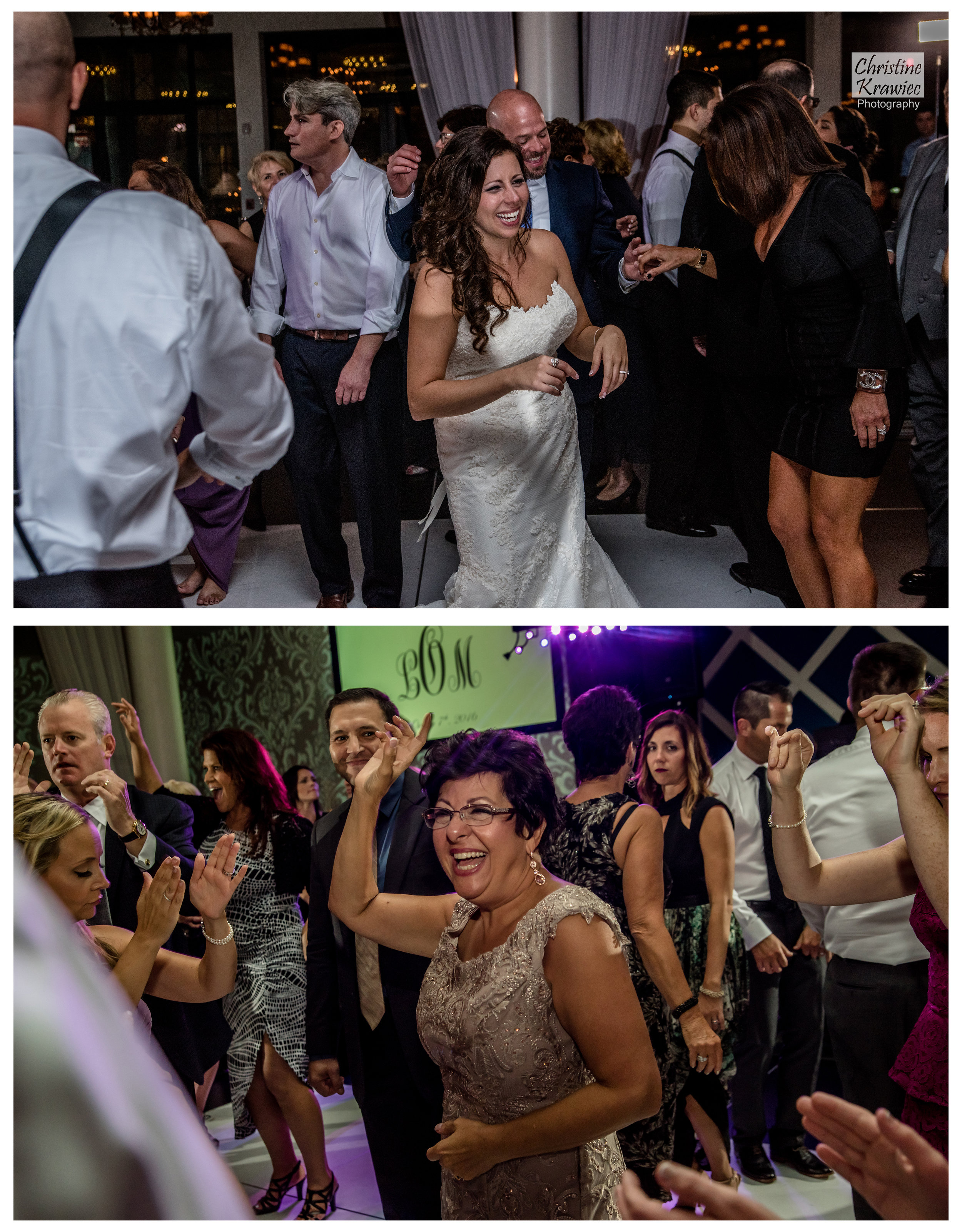 This group knows how to have a good time on the dance floor!