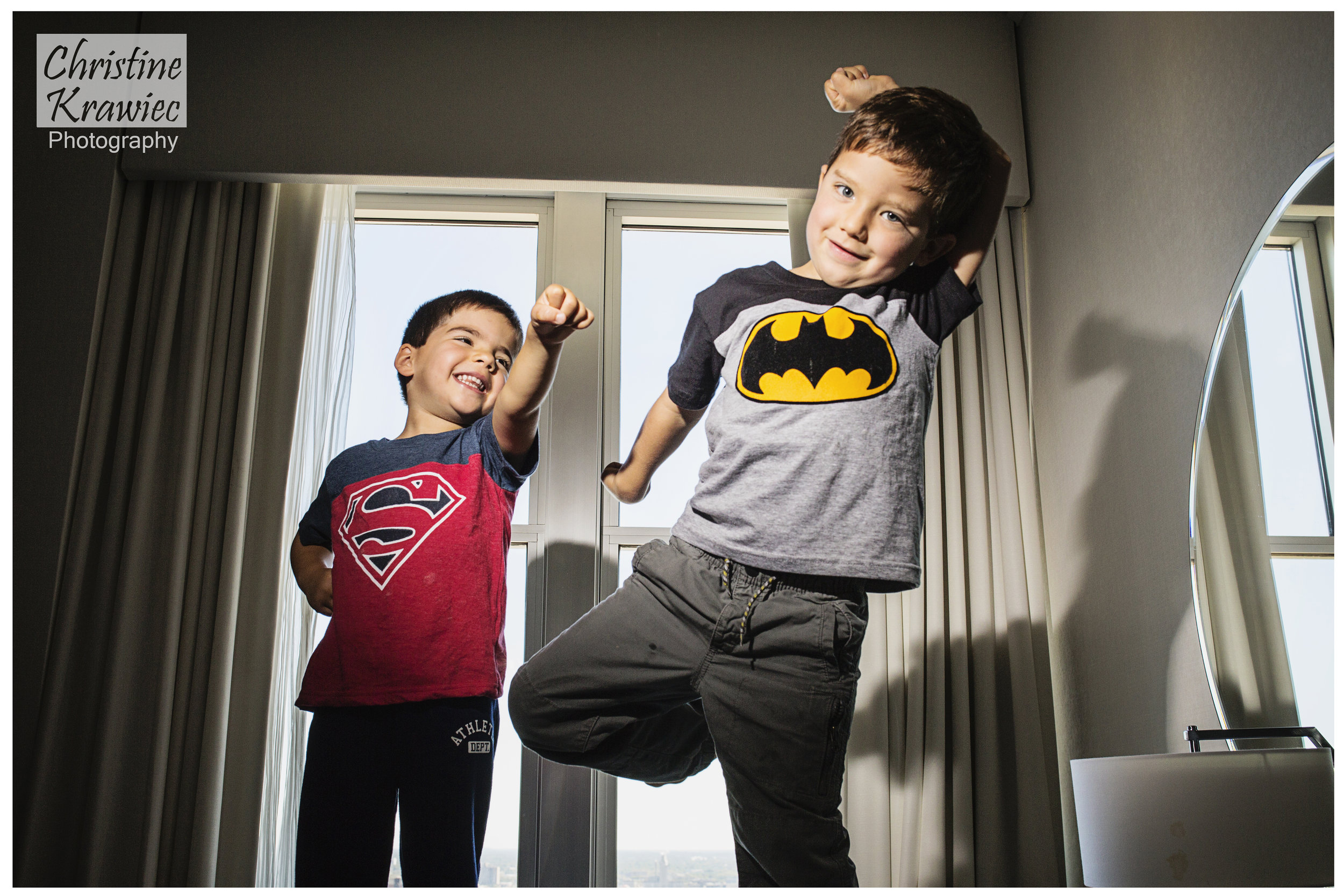 How cute are these superhero ring bearers?!