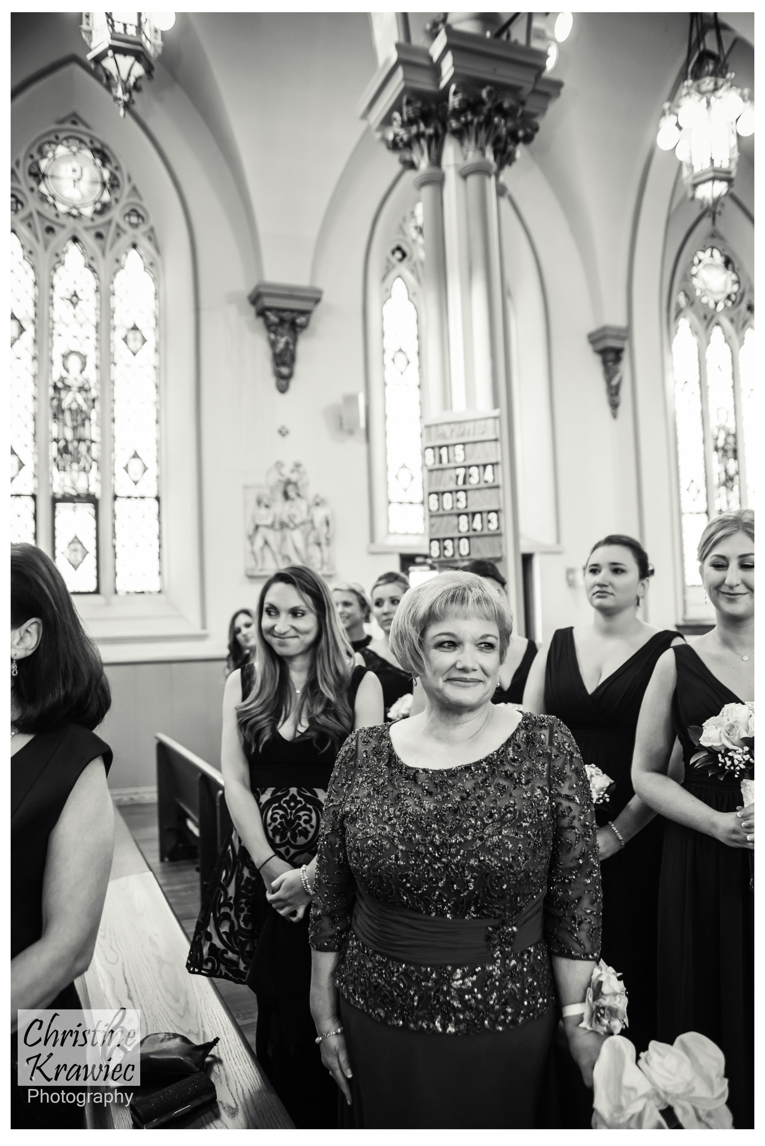 Everyone always watches the Bride as well as the groom on the trek down the aisle, but I like to take a quick glance at the Mother of the Bride, she is BEAMING!