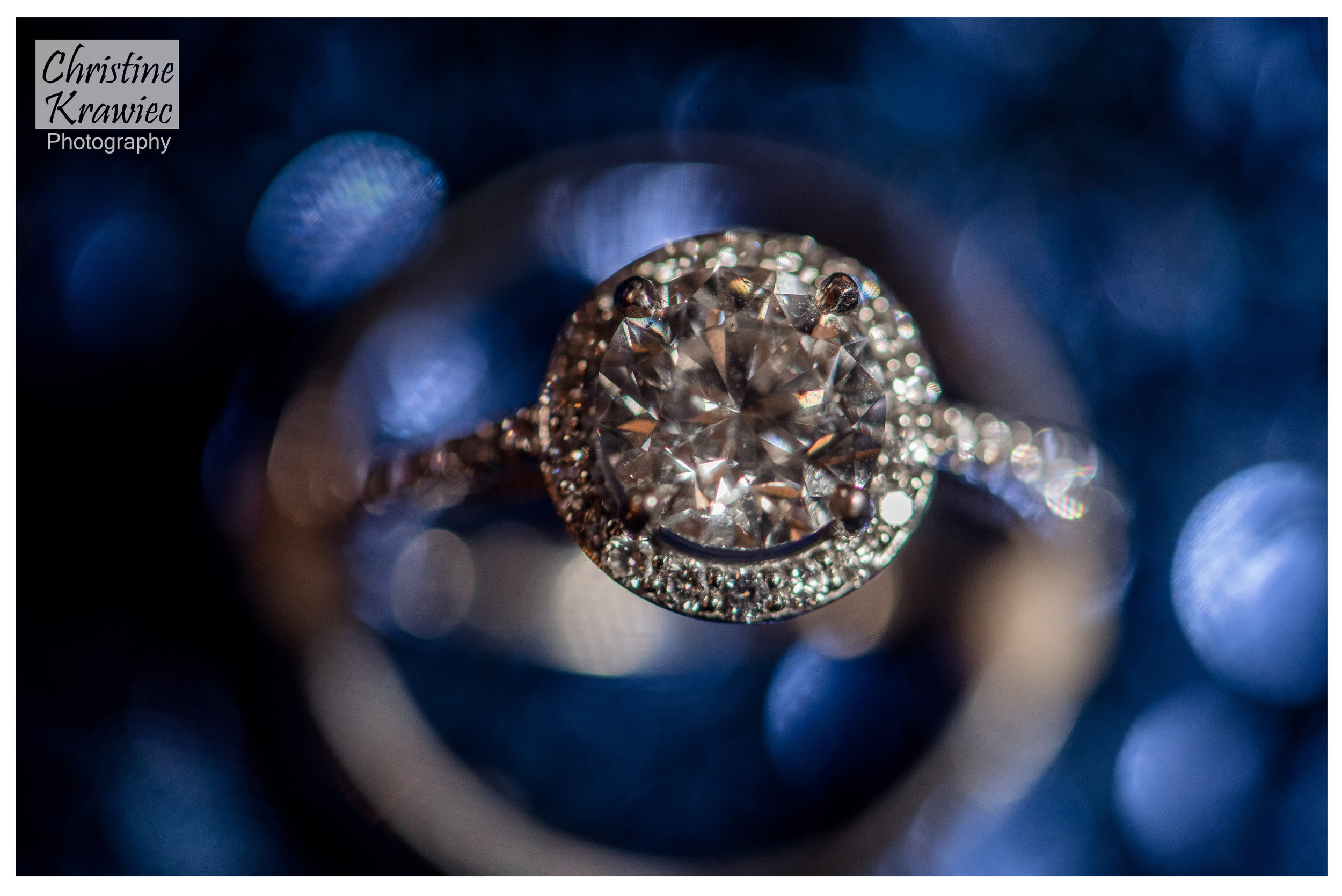 The card table display was a perfect setting to add a pop of color for this ring shot!