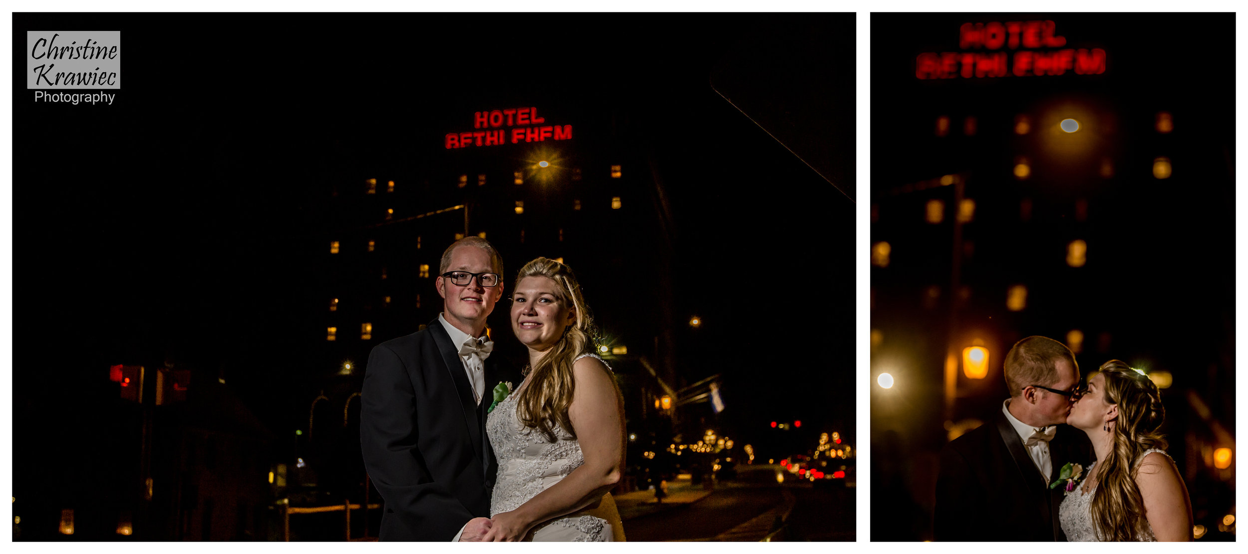 The Hotel Bethlehem sign served as a fabulous backdrop to close out the night