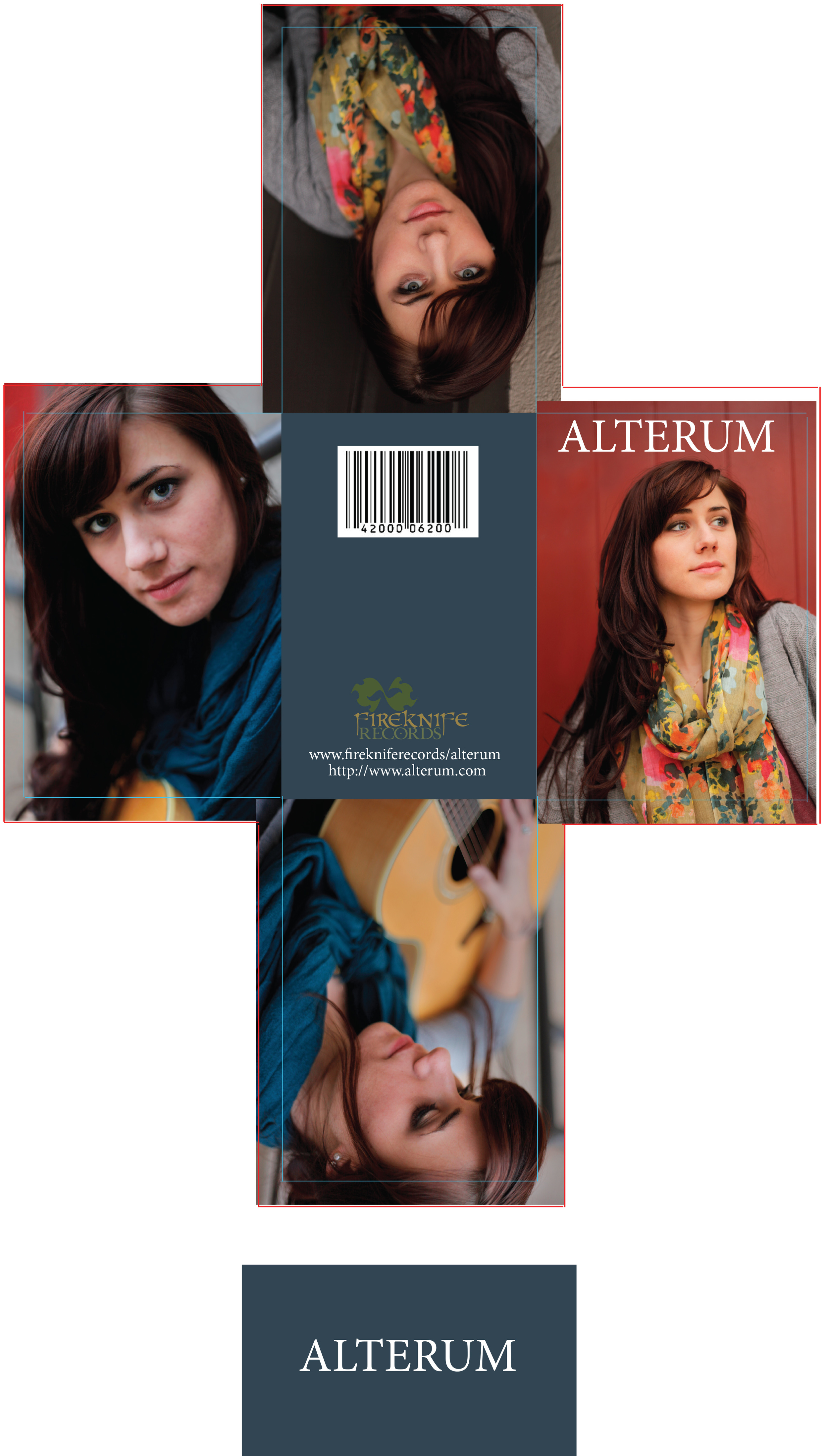 """Designed a digital album for a band I call """"Alterum"""" produced by """"Fireknife Records"""" also designed by me."""