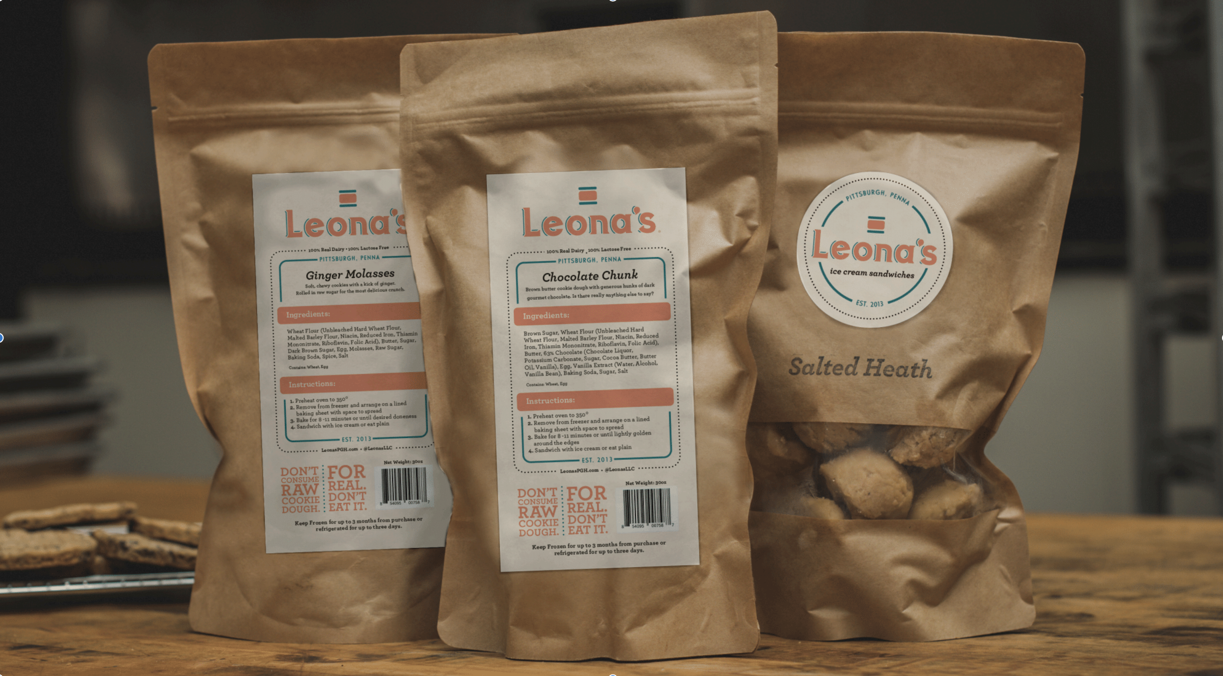 Let Leona's make the holidays a little easier on you with our pre-scooped cookie dough. Each bag contains 16 perfectly portioned little balls of goodness that go straight from the freezer to the oven. It's so simple and you'll look awesome bringing a tin of these to your holiday dinner.