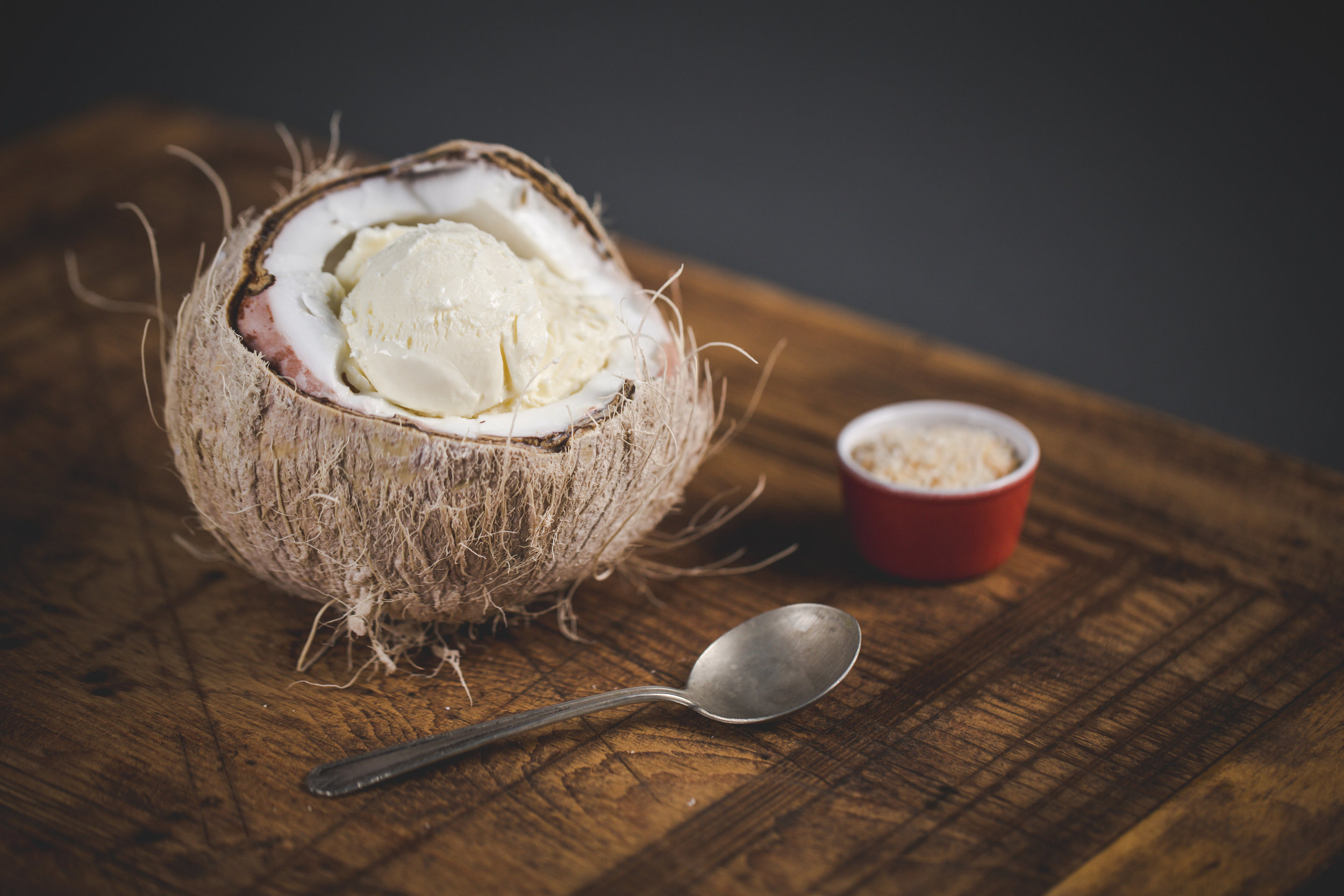 Not getting away for spring break? Escape to a tropical island in your own home with a pint of Leona's Toasted Coconut Ice Cream. Photo by Matt Dayak