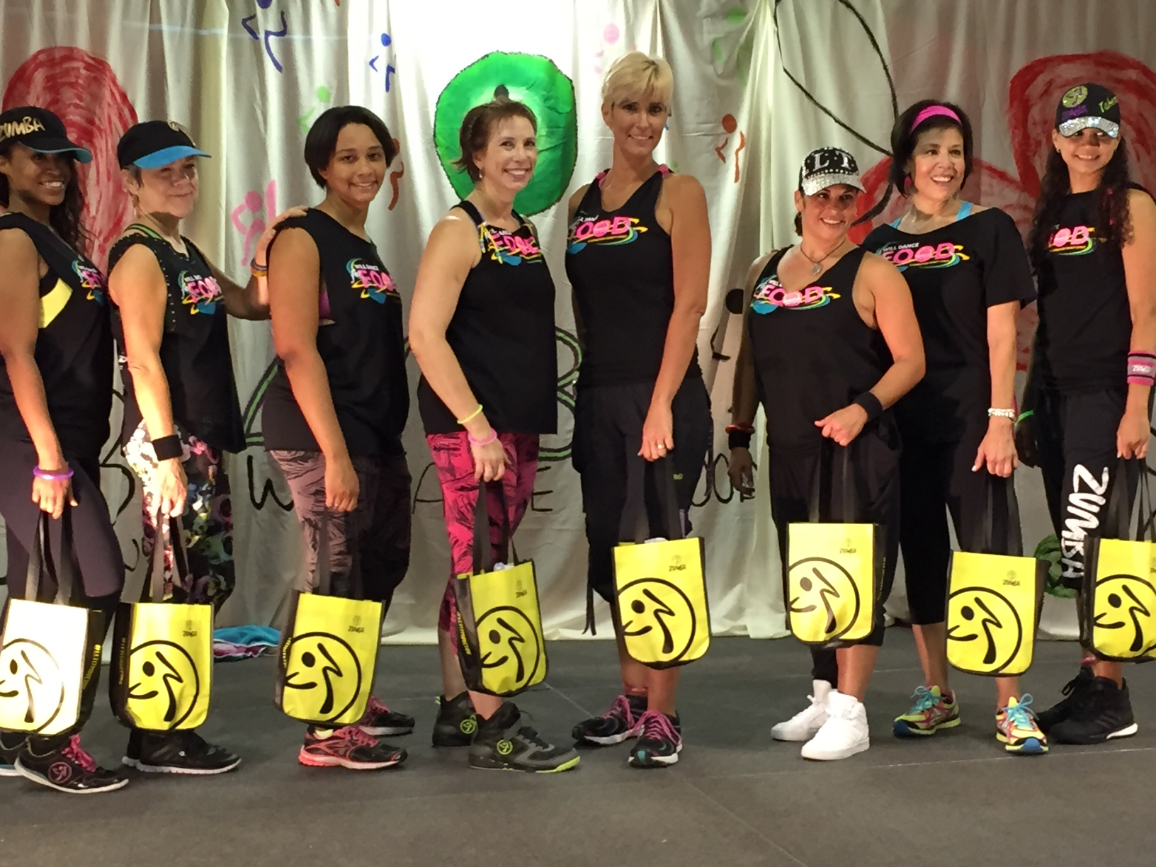 Licensed area Zumba instructors at the 2015 Charity Event.
