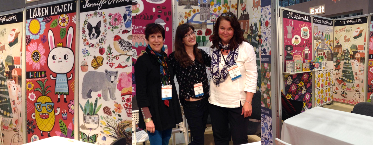 Jennifer Nelson, Jennifer Orkin Lewis, and myself at the JNA booth at Surtex