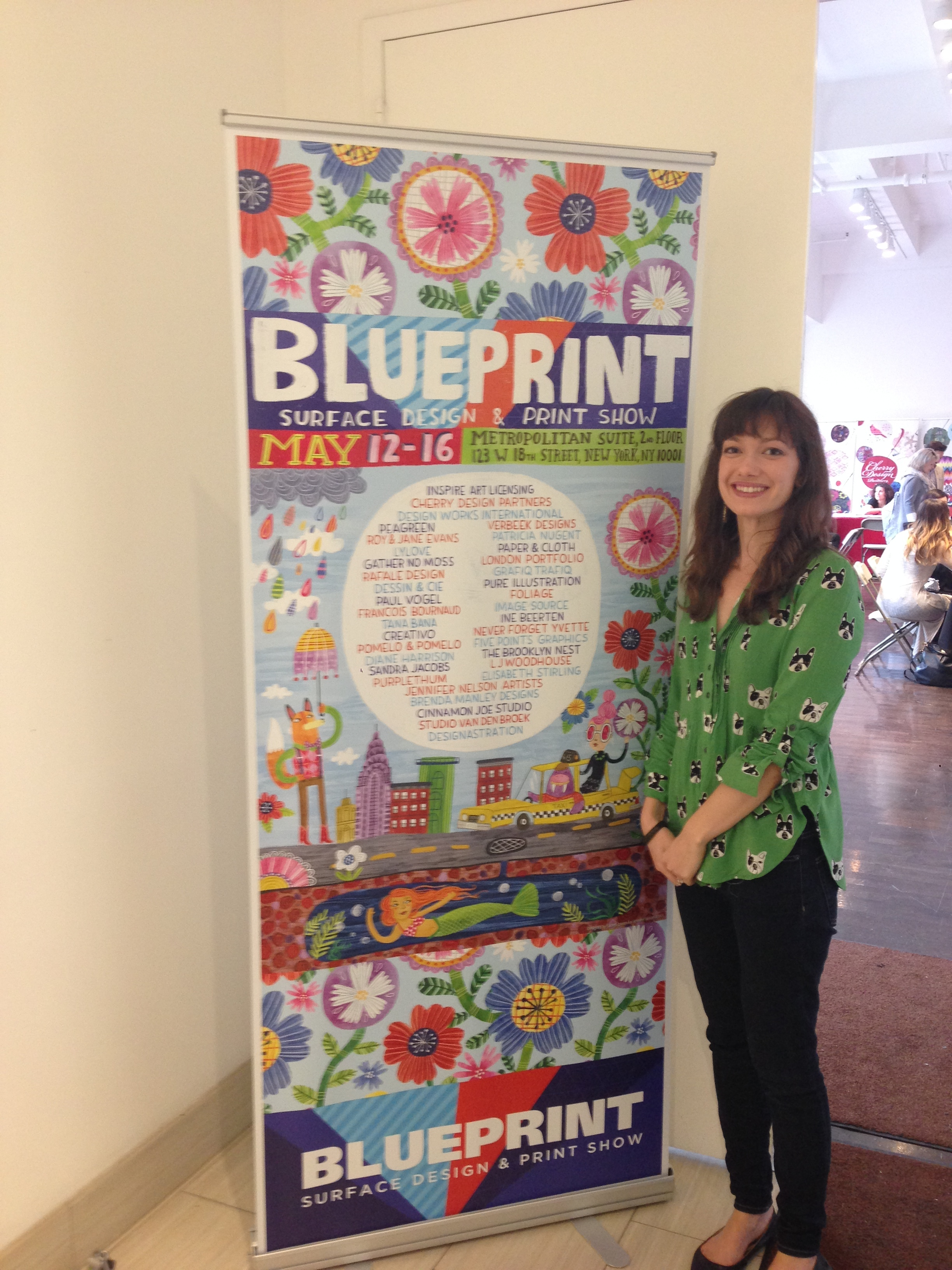 Standing with the Blueprint Poster I designed!