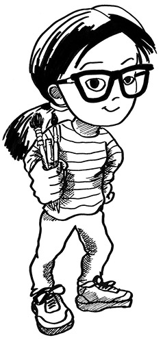 Self-portrait as a cartoon character