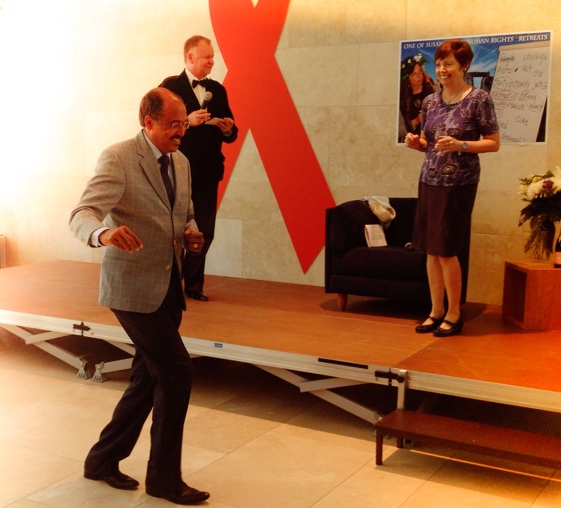 Executive Director's dance moves