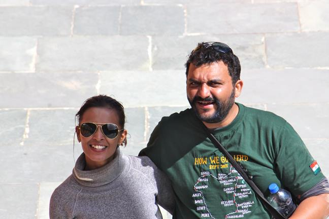 Sonalee Tomar and our Ride Captain Siddhartha Lal