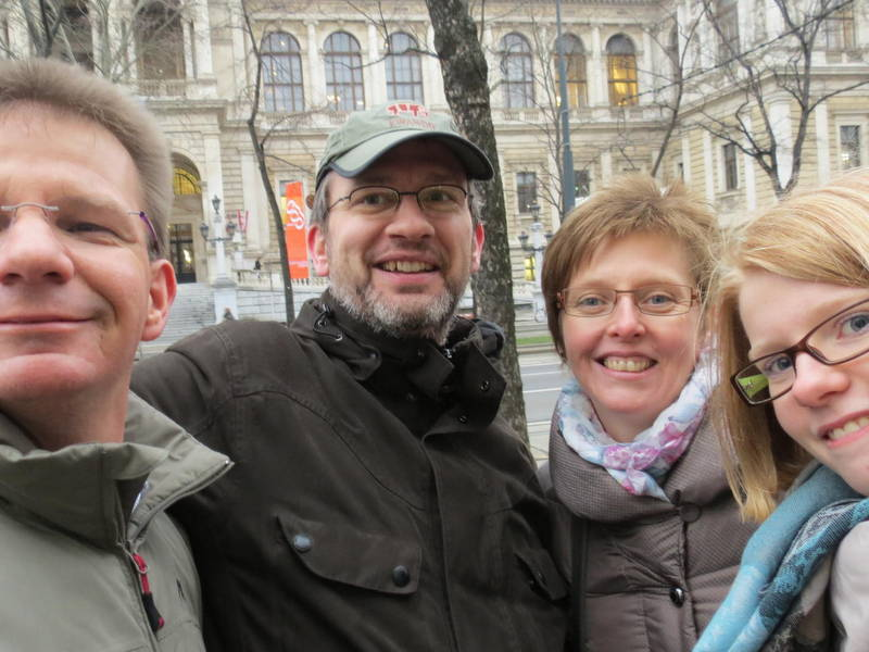 A Vienna Greeter with new friends from Germany