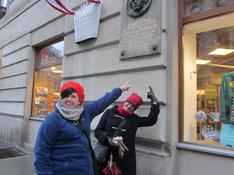 Some of the first ever visitors to enjoy a free walk with Vienna Greeters