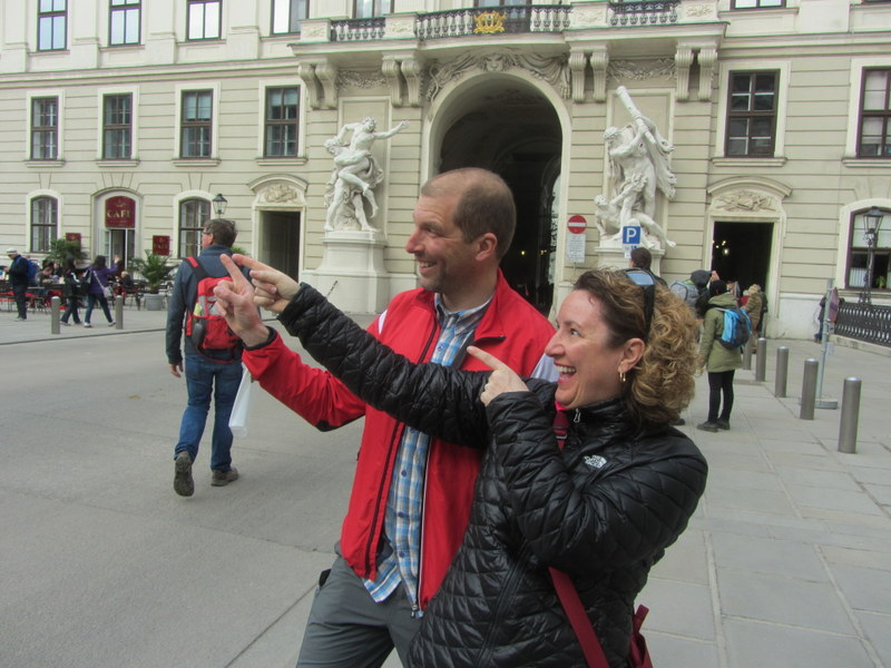 In the Hofburg on a free walk with Vienna Greeters