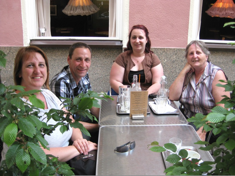 Well earned refreshments after a Vienna Greeters walk