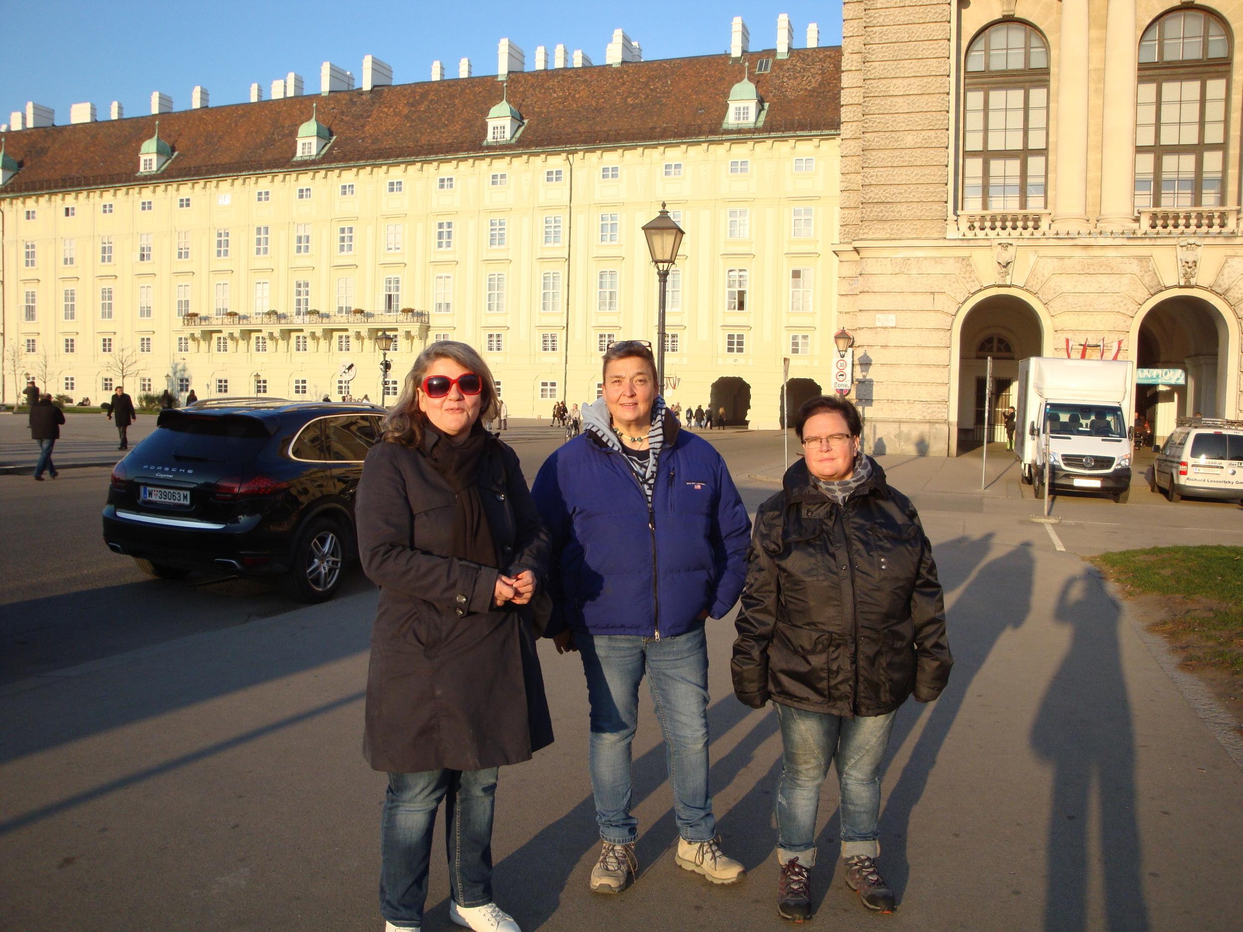 At the Heldenplatz in Vienna