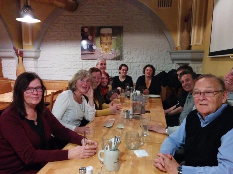 Vienna Greeter volunteers at a meet up