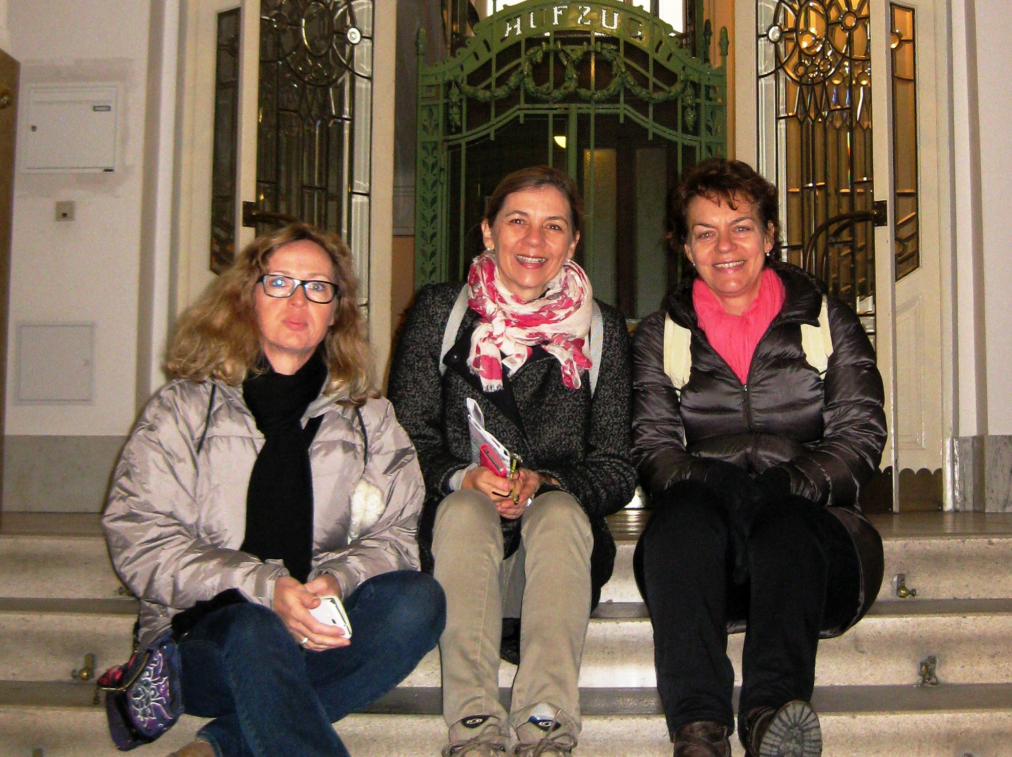 Taking a break on a walk through the city of Vienna