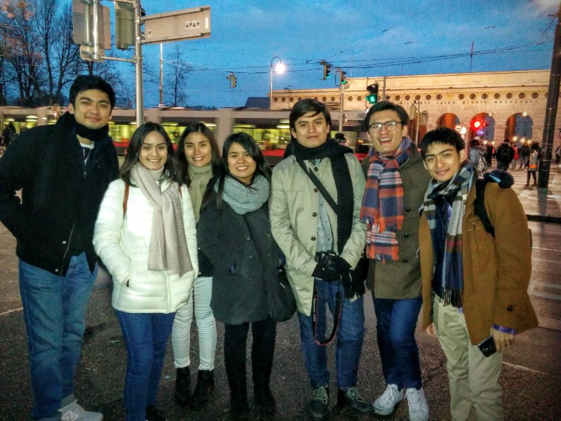 Guest from the Philippines on a walk in Vienna