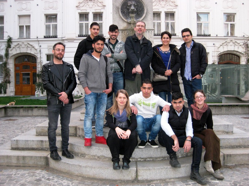 Group photo on a Vienna Greeters walk in the 8th district