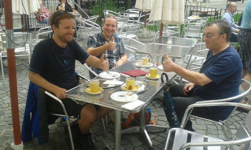 Drinks all round on a walk in Vienna
