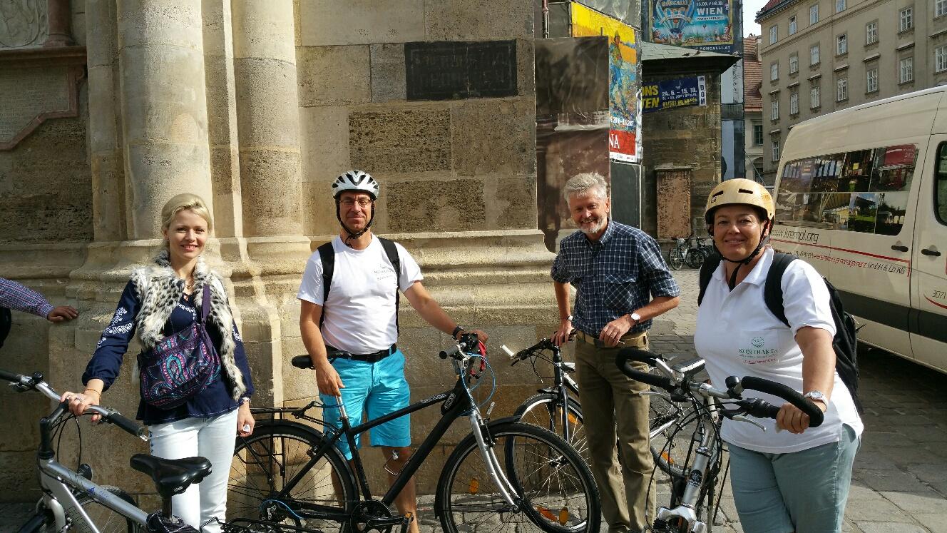 Exploring Vienna with bikes