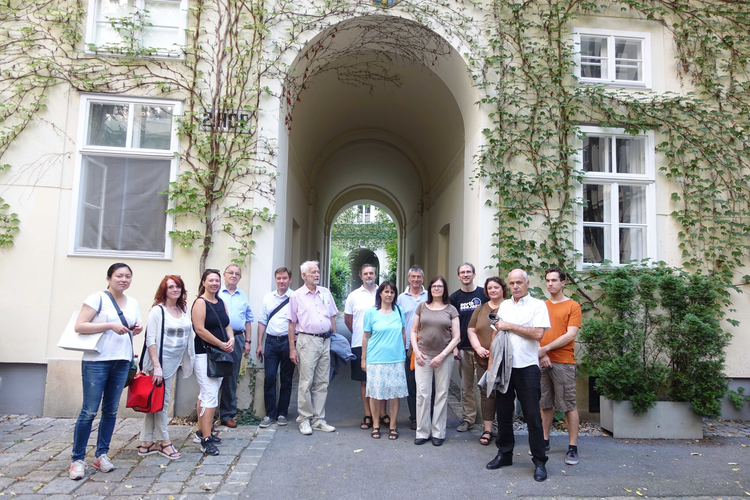 Vienna Greeters on a group walk in the 8th district