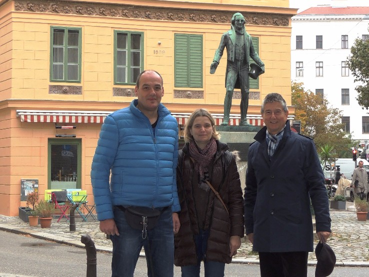 Visitors to Vienna with their Vienna Greeter