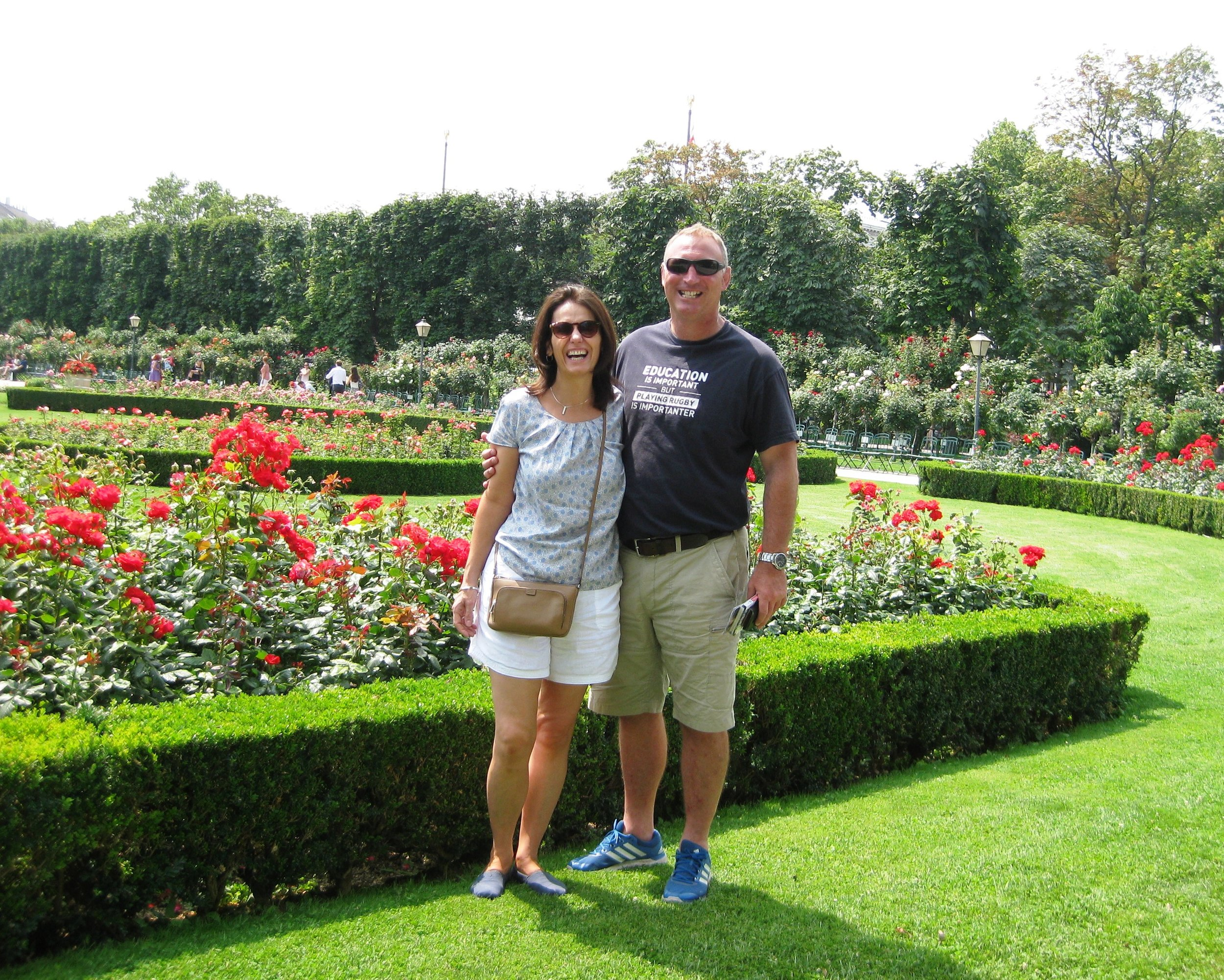 In the rose garden in Vienna