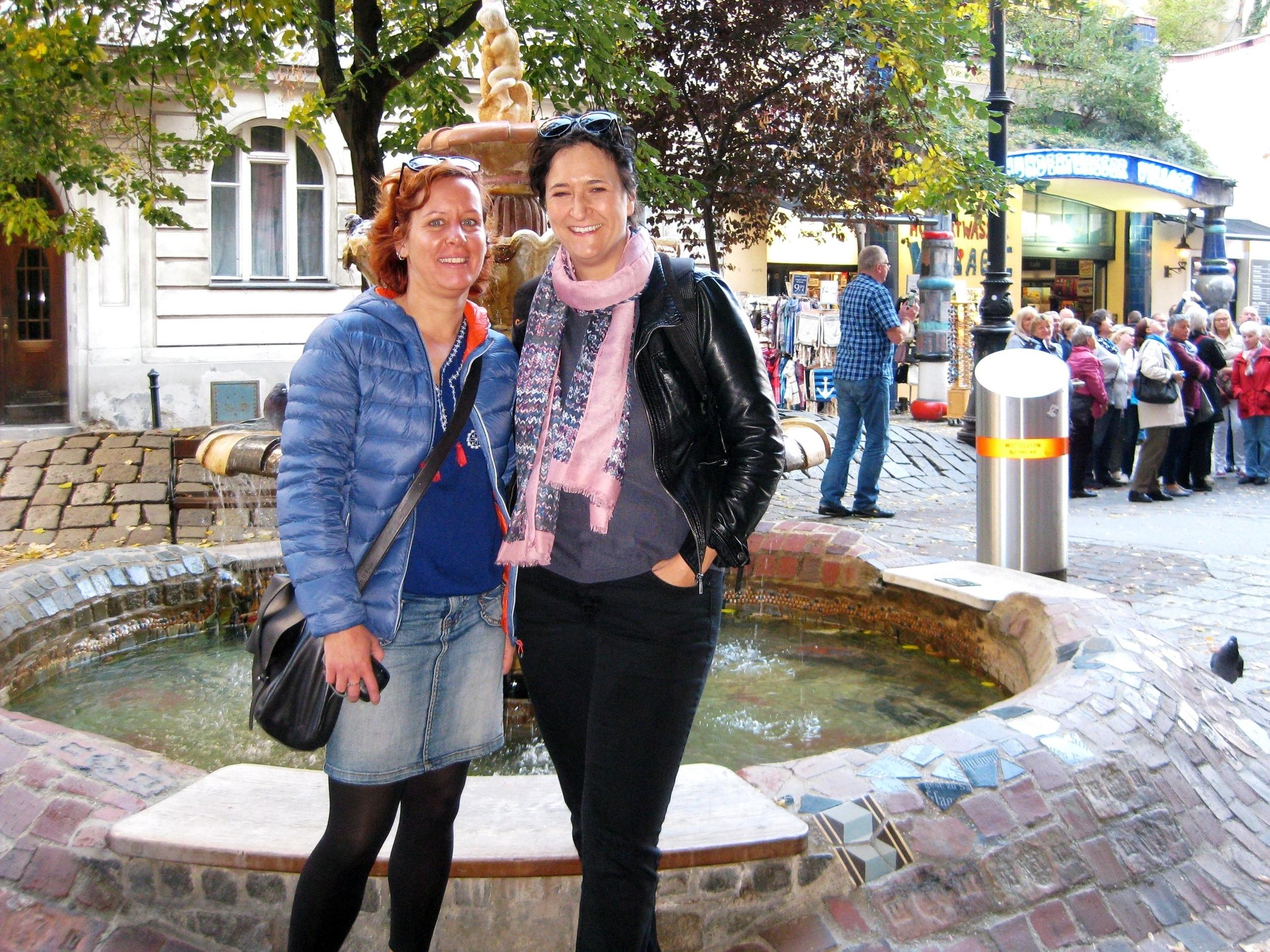 Near the Hundertwasserhaus in Vienna