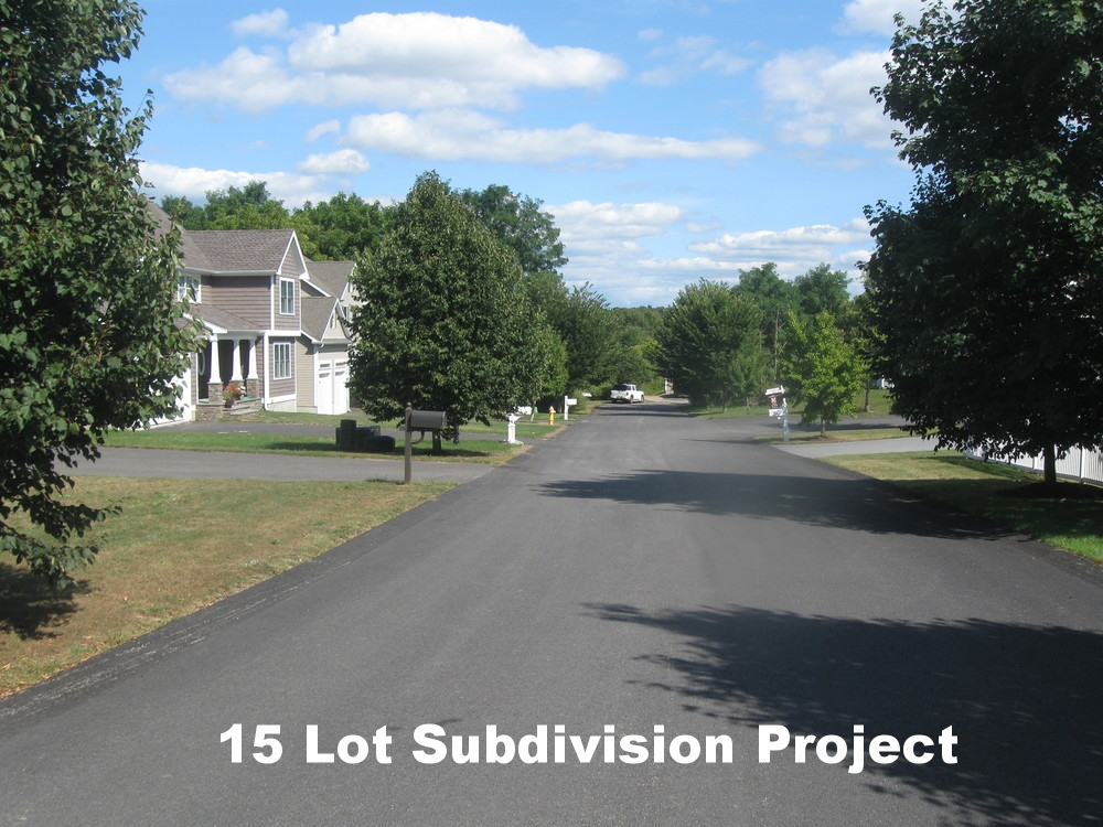 15 lot subdivision project
