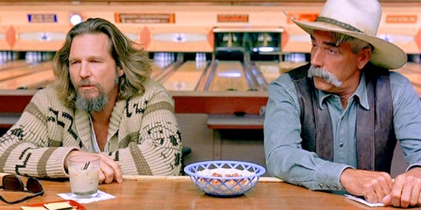 Jeff Bridges and Sam Elliot in Joel Coen and Ethan Coen's  The Big Lebowski