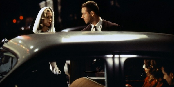 Russell Crowe    and Kim Basinger in Curtis Hanson's     L.A. Confidential