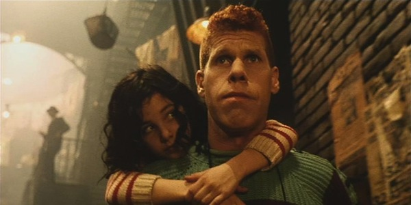Ron Perlman and Judith Vittet in Jean-Pierre Jeunet and Marc Caro's  The City of Lost Children