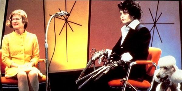 Dianne Wiest and Johnny Depp in Tim Burton's     Edward Scissorhands