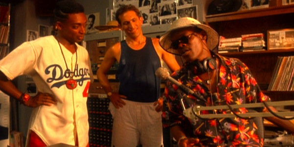 Spike Lee, Richard Edson and Samuel L. Jackson in Spike Lee's     Do the Right Thing