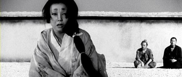 Machiko Kyo, Toshiro Mifune and Masayuki Mori in Akira Kurosawa's     Rashomon